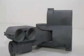 3D printed resin living hinge structure, integrally formed and movable